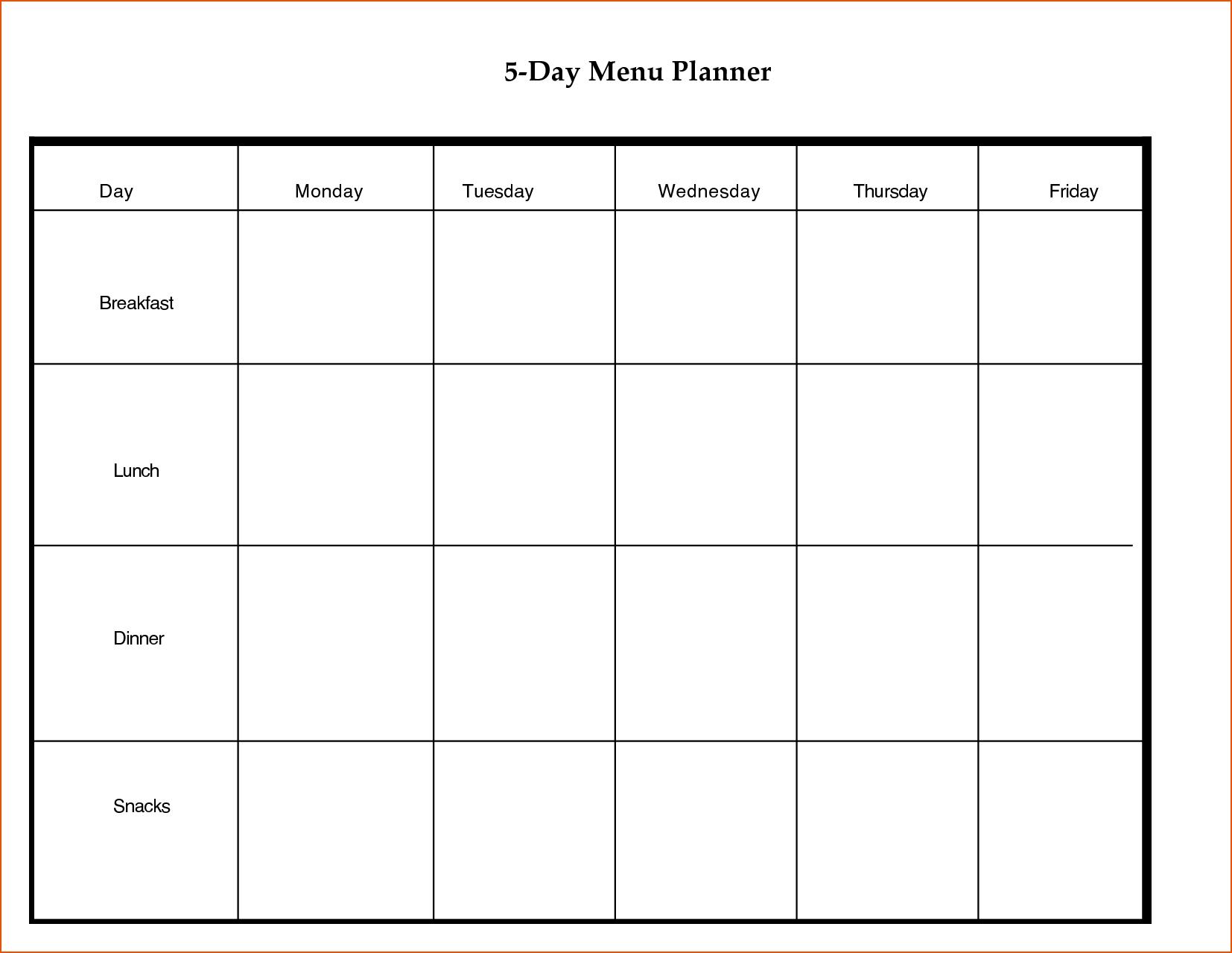 8+ Day Planner Template - Bookletemplate 8 Day Calendar Template