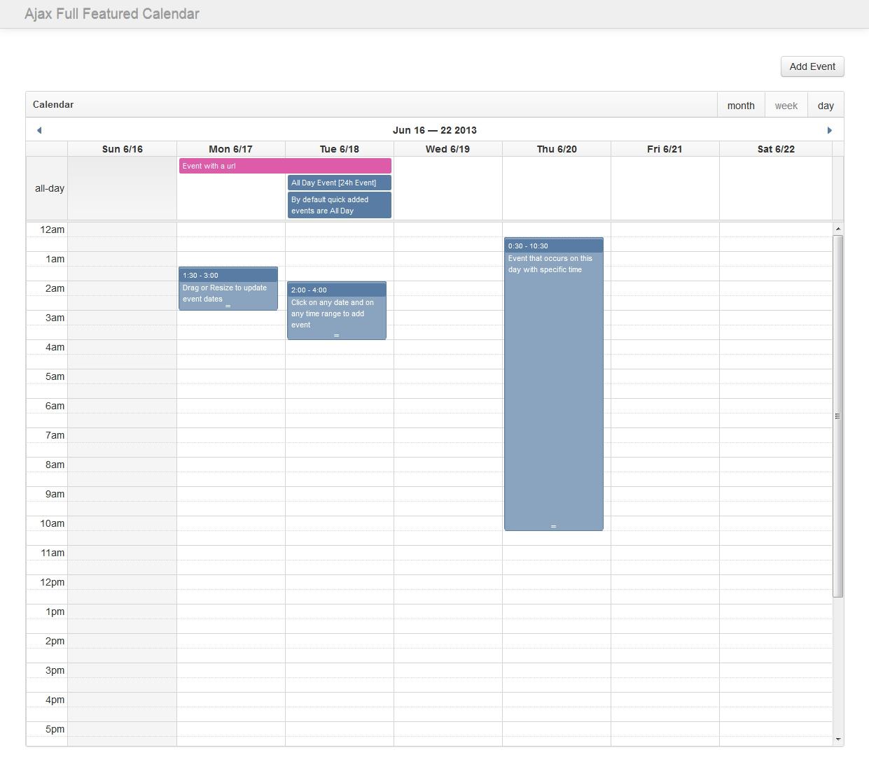 Ajax Full Featured Calendar By Pauloreg | Codecanyon Calendar Template Bootstrap 3
