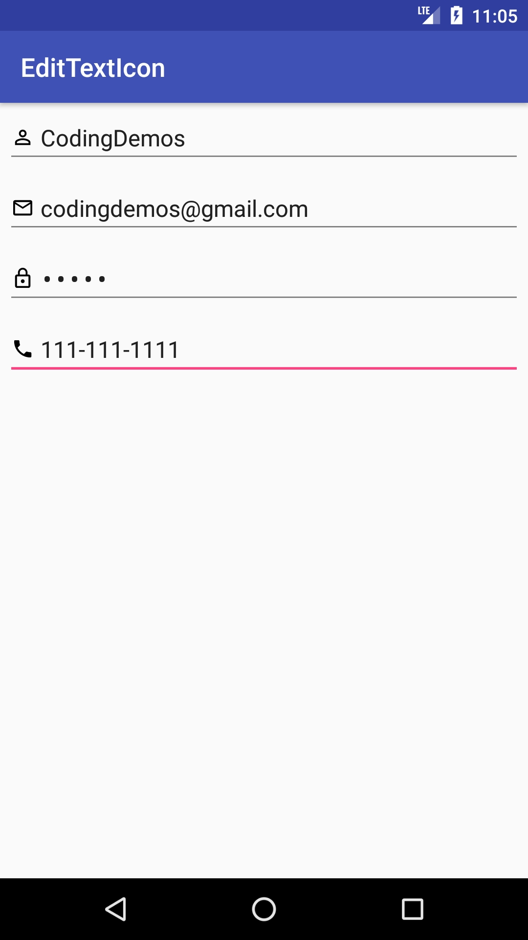 Android Edittext Icon - How To Add Icon To Edittext - Coding Demos Calendar Icon Inside Textbox Css