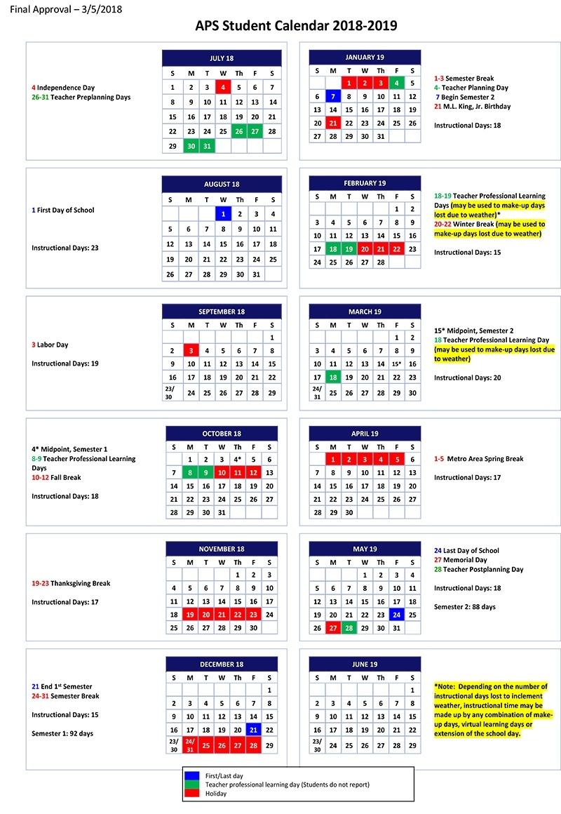 Atlanta Public Schools Calendar.Perky Lexington 3 School Calendar Printable Blank Calendar Template