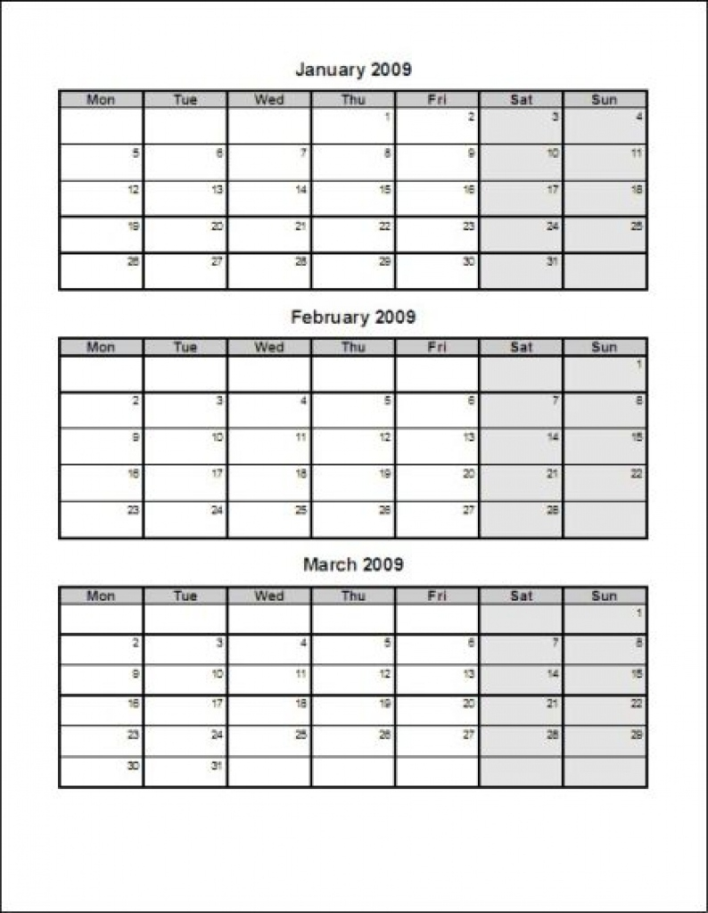 Excel Calendar 2016 Uk 16 Printable Templates Xlsx Free Free Calendar 3 Months Per Page