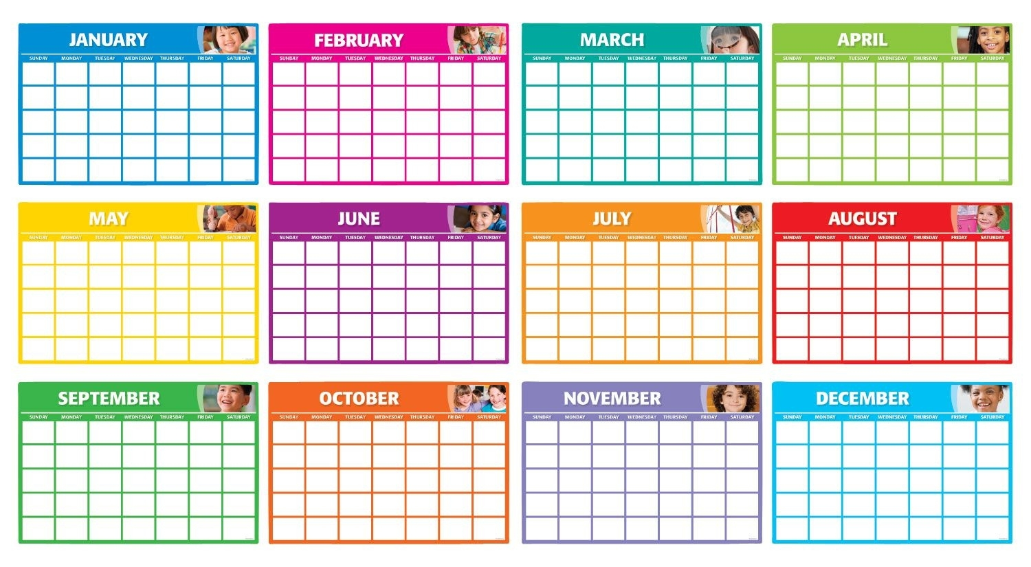 Fill-In Monthly Calendars Bulletin Board: Includes 12 Blank Write-On Monthly Calendar Bulletin Board
