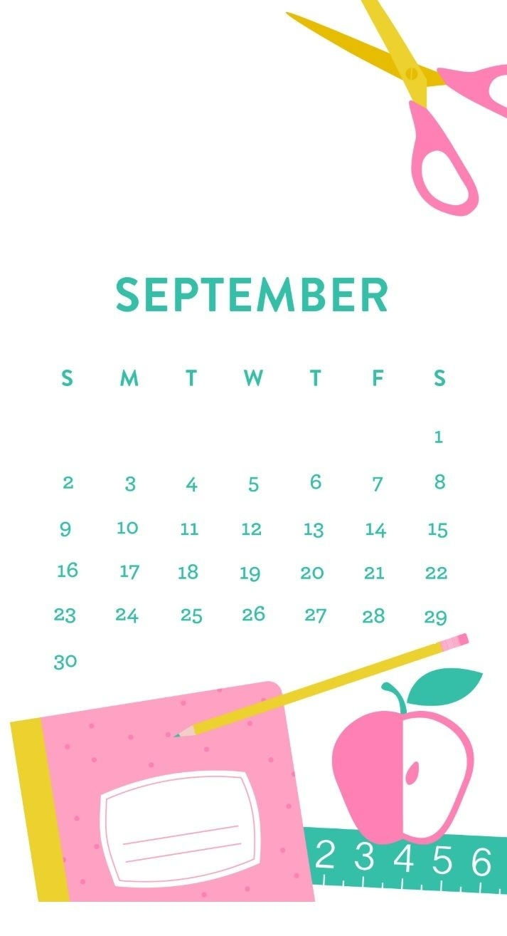 Free September 2018 Iphone Calendar | Calendar 2018 | Calendar Remarkable Iphone Calendar Gone Blank