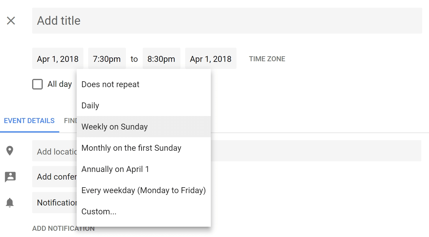 How To Set Up Repeating Event In Google Calendar On Last Day Of Month Calendar Of Monthly Causes