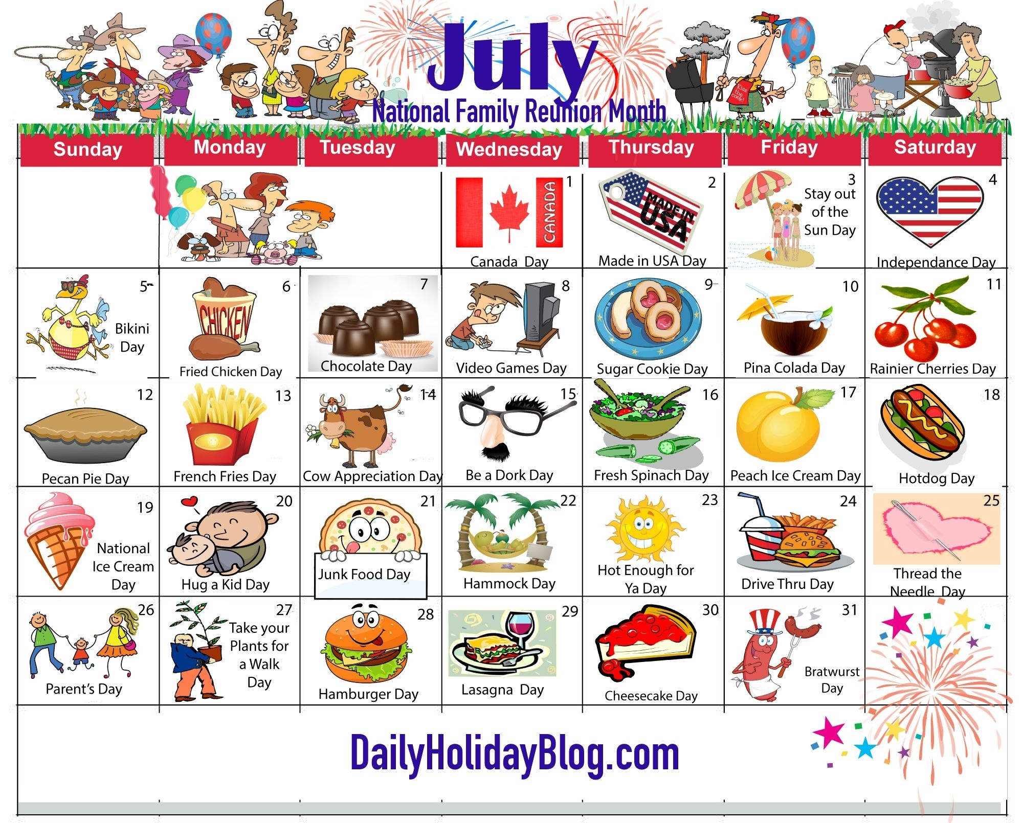July Holiday Calendar 2015 | Activity Director | Pinterest | Holiday Monthly Calendar National Days
