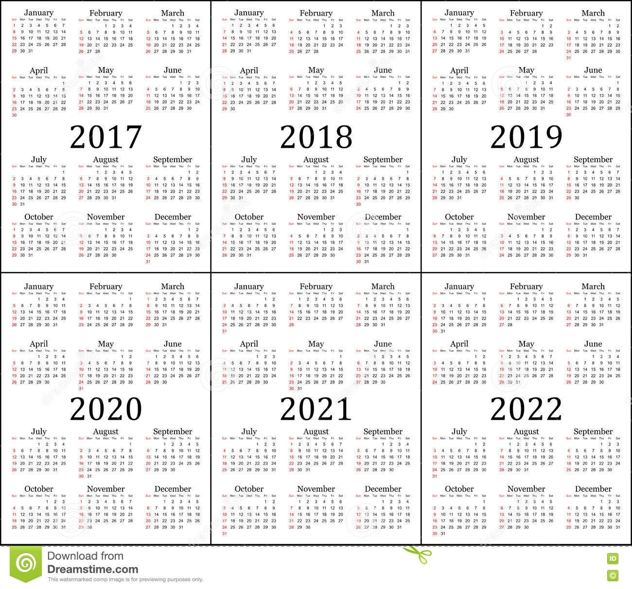Perky 2019 And 2020 Yearly Calendar • Printable Blank ...