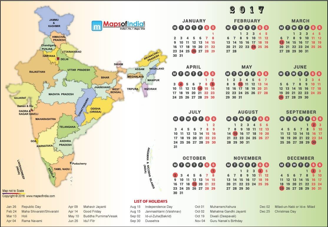 Year 2017 Calendar, Public Holidays In India In 2017 Exceptional 2020 Calendar India Festival