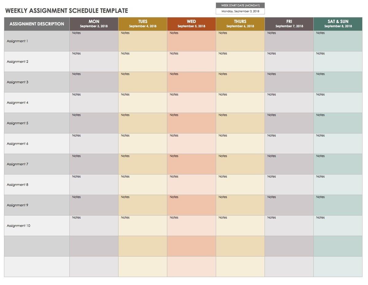 15 Free Weekly Calendar Templates | Smartsheet A Week Calendar Template