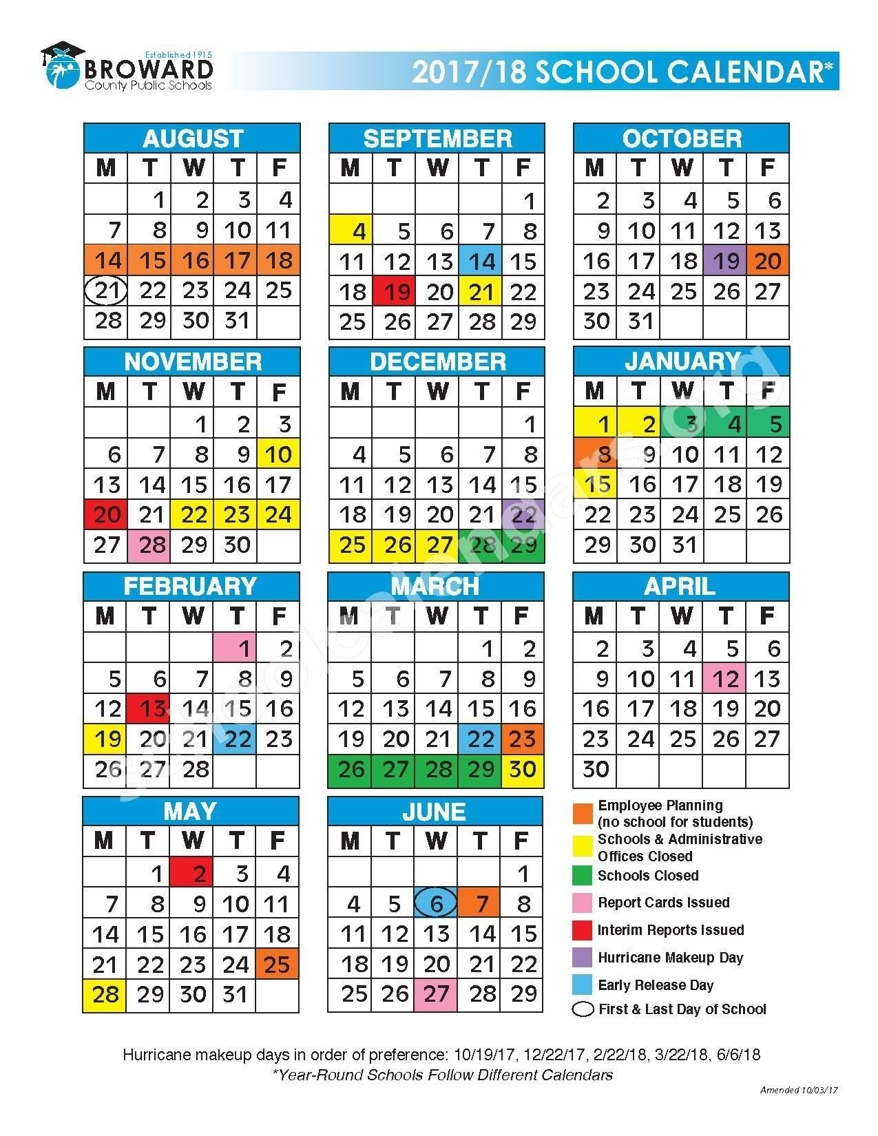 2017 2018 District Calendar Broward County Schools Fort Lauderdale Exceptional School Calendar In Broward County