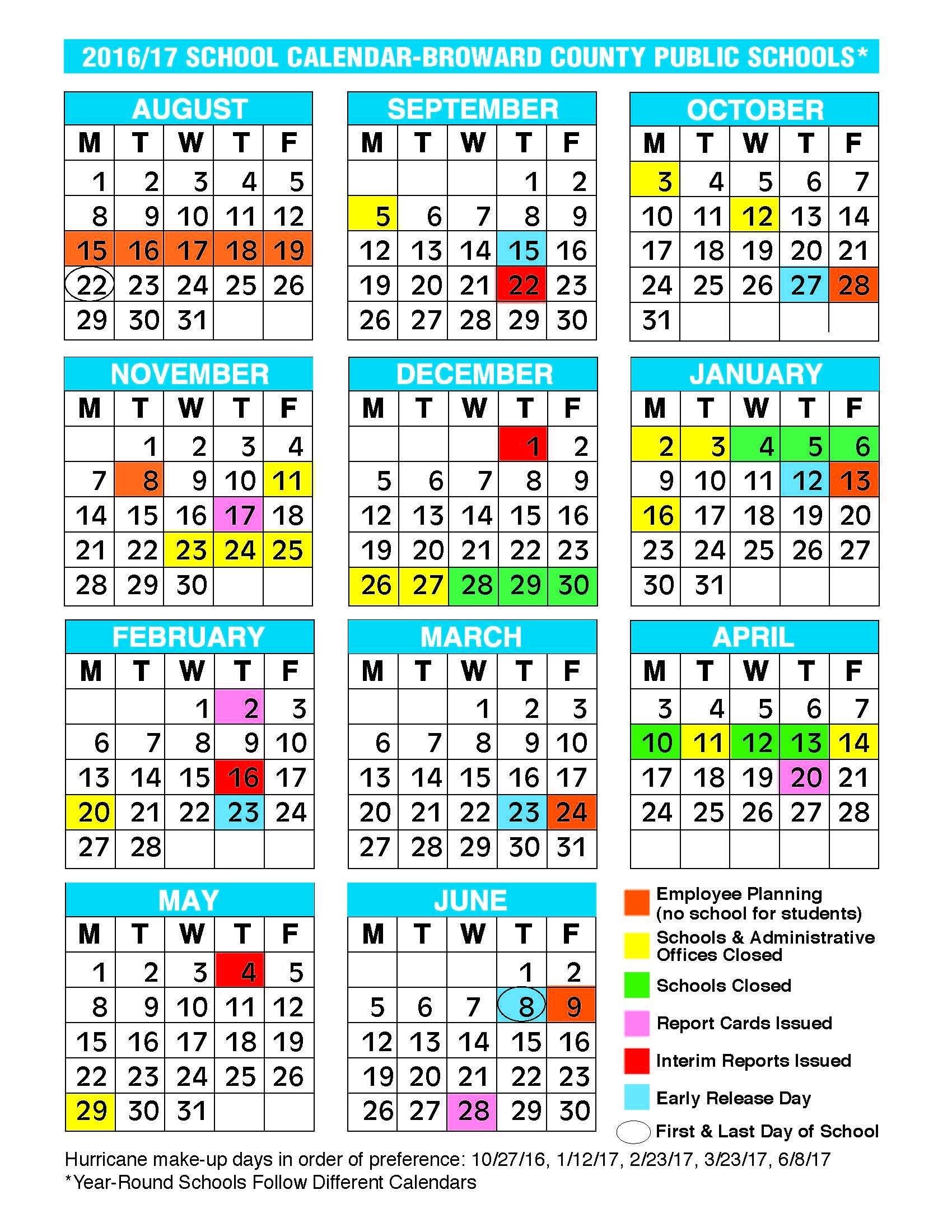 2017 2018 School Calendar Broward 2017 2016 School Calendar Broward Exceptional School Calendar In Broward County