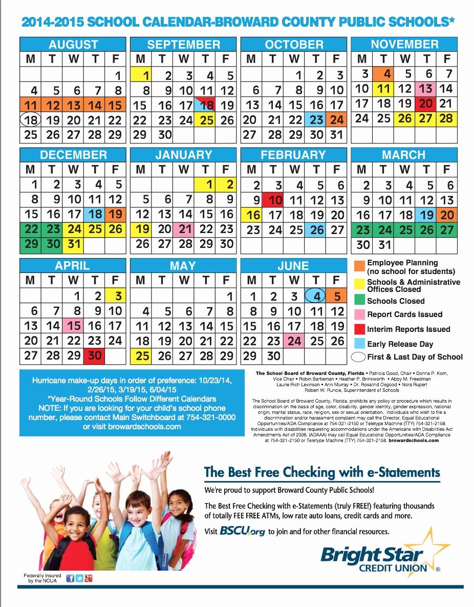 2019 And 2019 Academic Calendar Printable Palm Beach Schools Broward School Calendar In Broward County