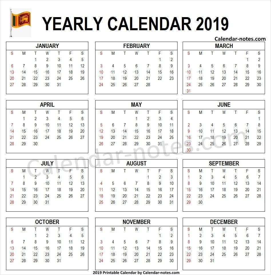 2019 Calendar Sri Lanka Pdf | Sri Lanka Calendar 2019 | 2019 2020 Calendar Sri Lanka With Holidays