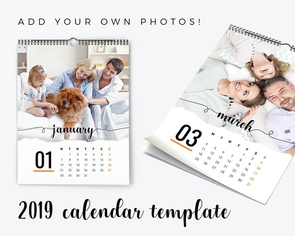 2019 Calendar Template   Add Your Own Photos - Sandra Stipan Photography Calendar Template Add Your Own Photos