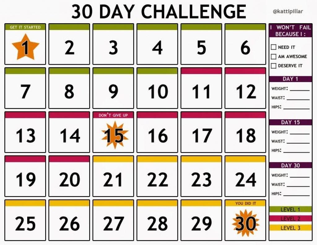30 Day Countdown Calendar Printable 30 Day Countdown Calendar 7 Day Countdown Calendar