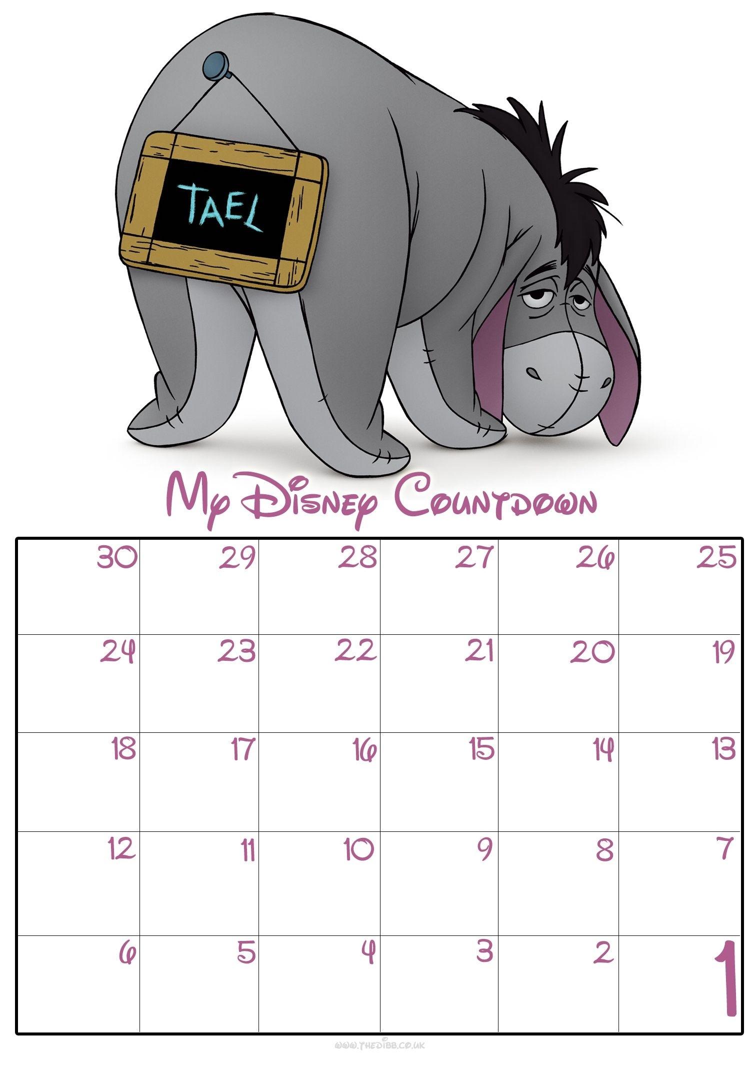 30 Day Disney Countdown Calendars   Ideas For Home Disney Countdown Calendar App