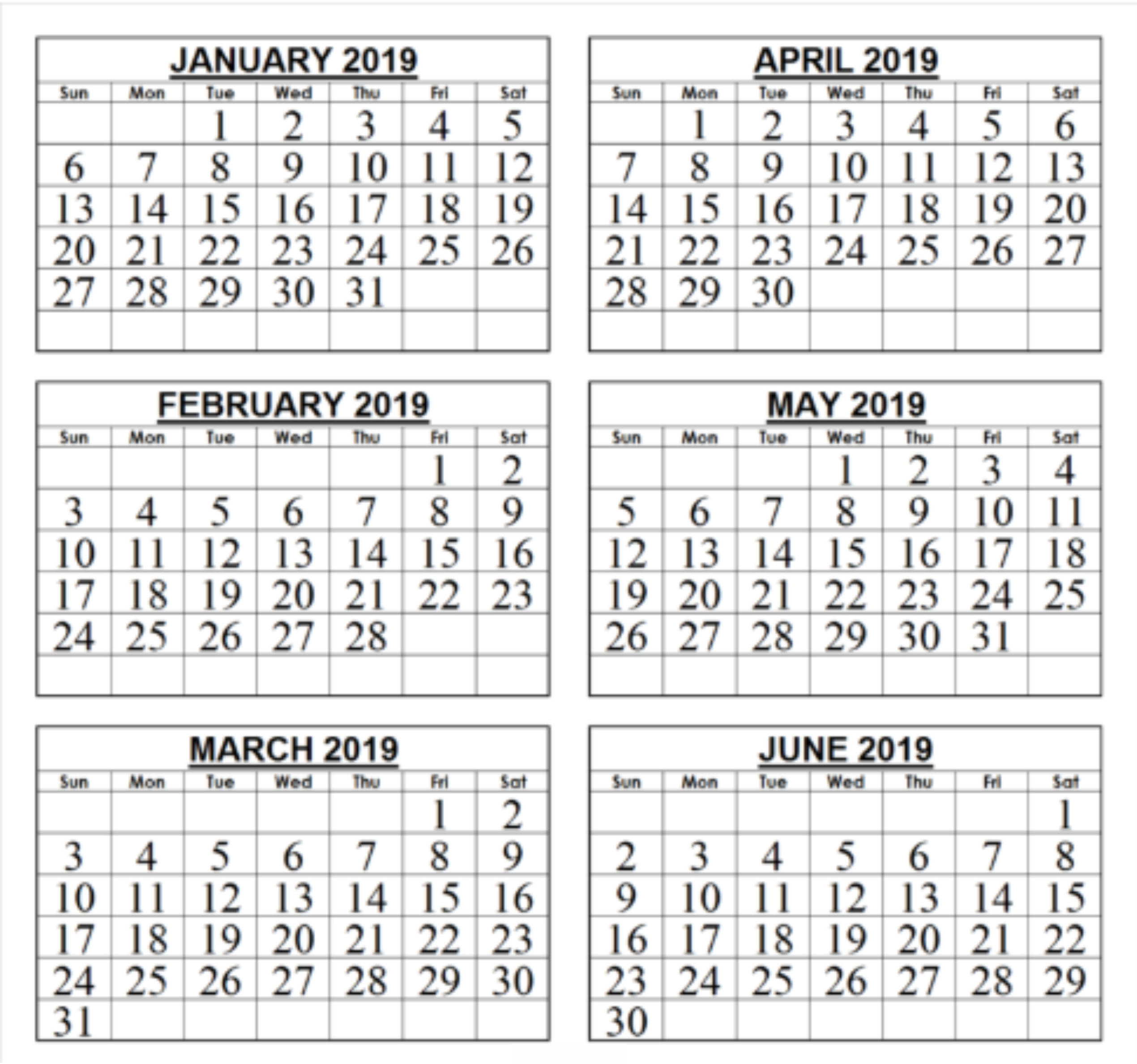 6 Monthly Calendar Printable • Printable Blank Calendar Template Exceptional 6 Month Calendar Blank
