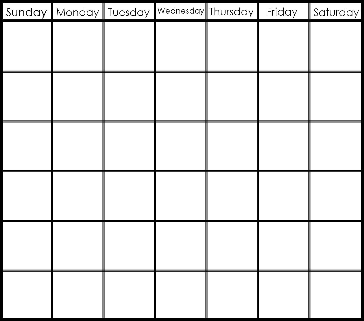 6 Week Printable Calendar | Printable Calendar Templates 2019 Blank Calendar Template 6 Weeks