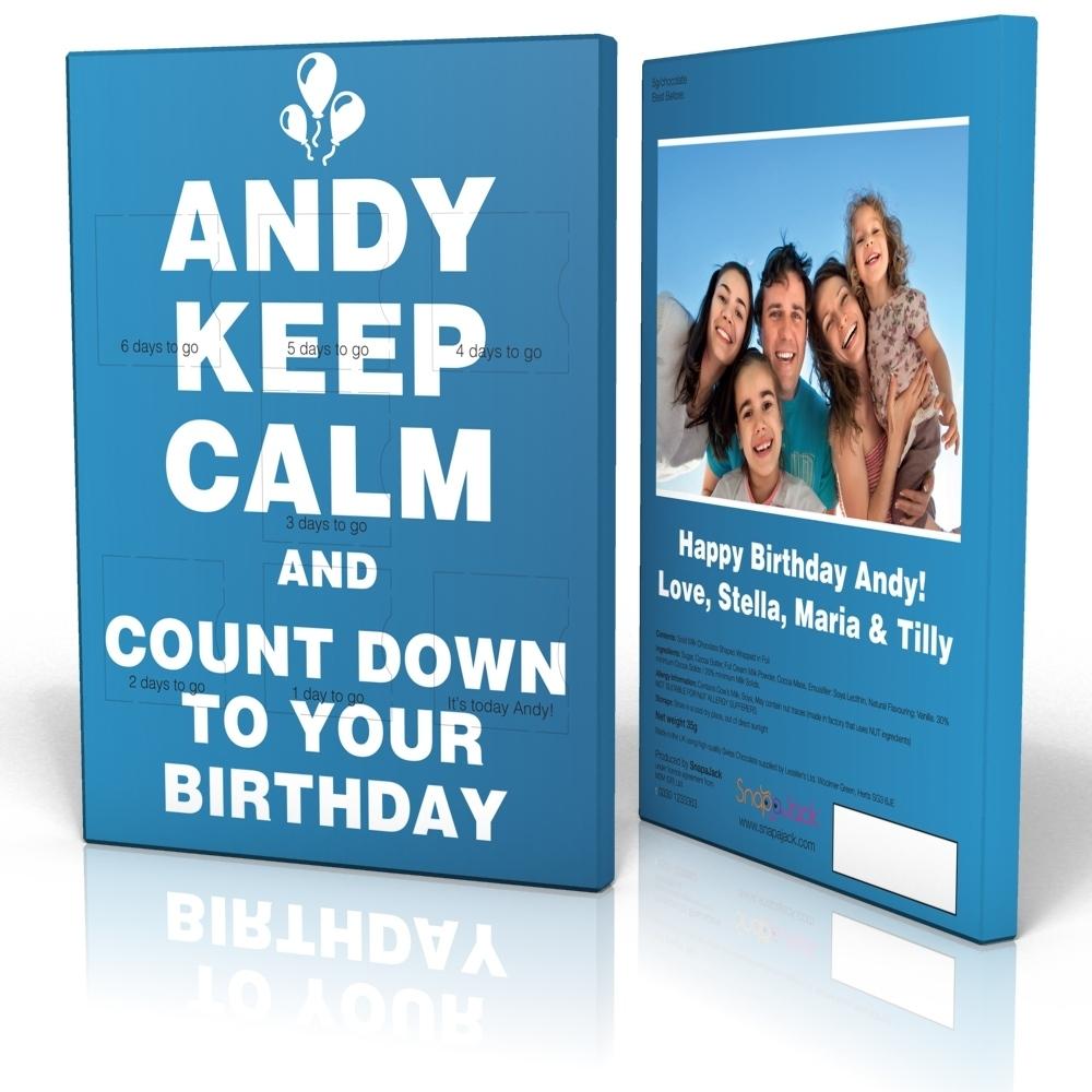 7 Day Calendar - Keep Calm Countdown Blue 7 Day Countdown Calendar