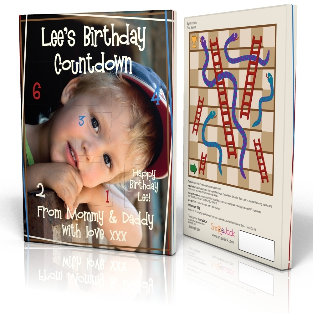 7 Day Countdown Calendar Snakes And Ladders Design 7 Day Countdown Calendar