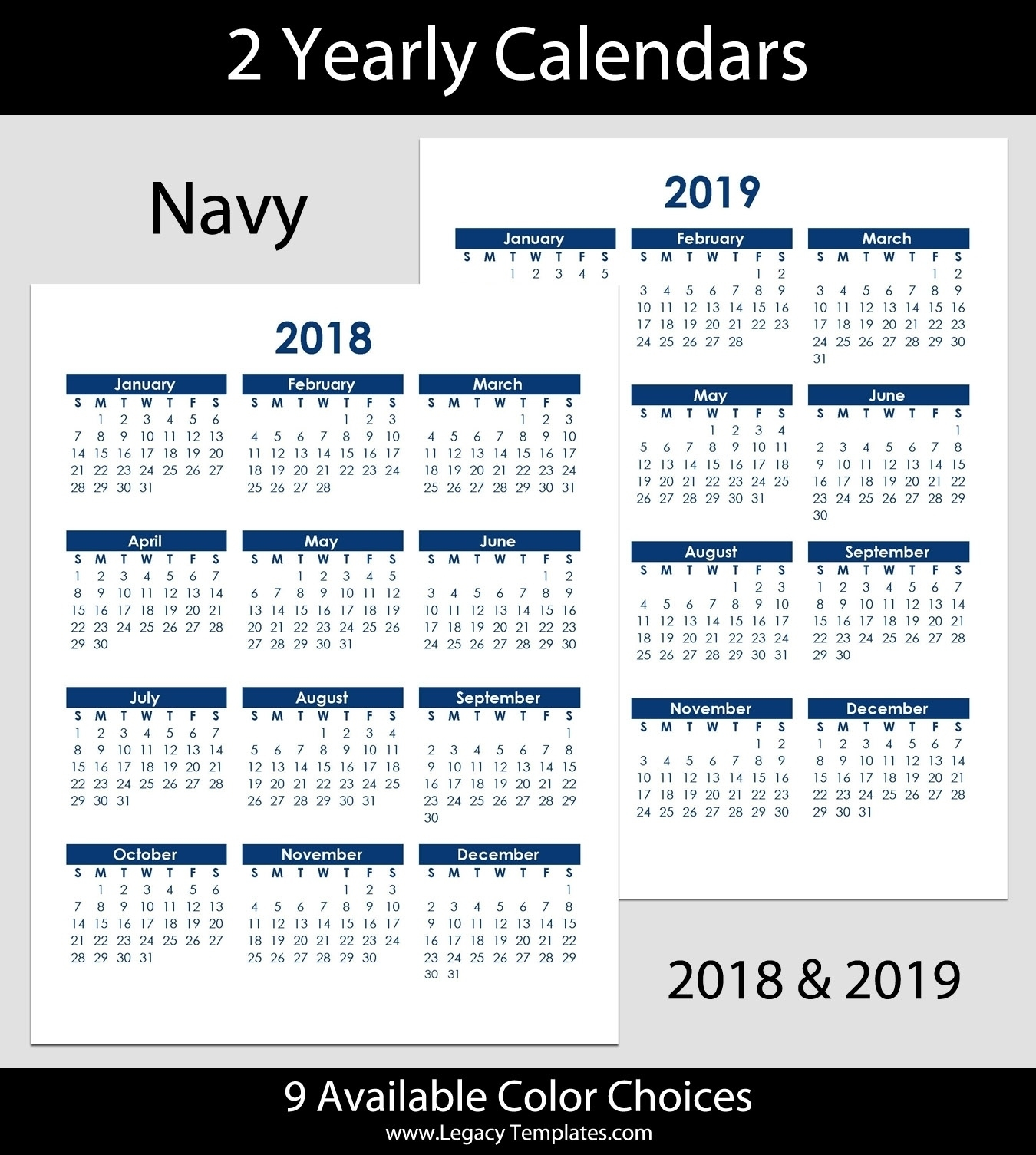 8.5 X 11 Year Calendar | Ten Free Printable Calendar 2019-2020 8.5 X 14 Calendar Template