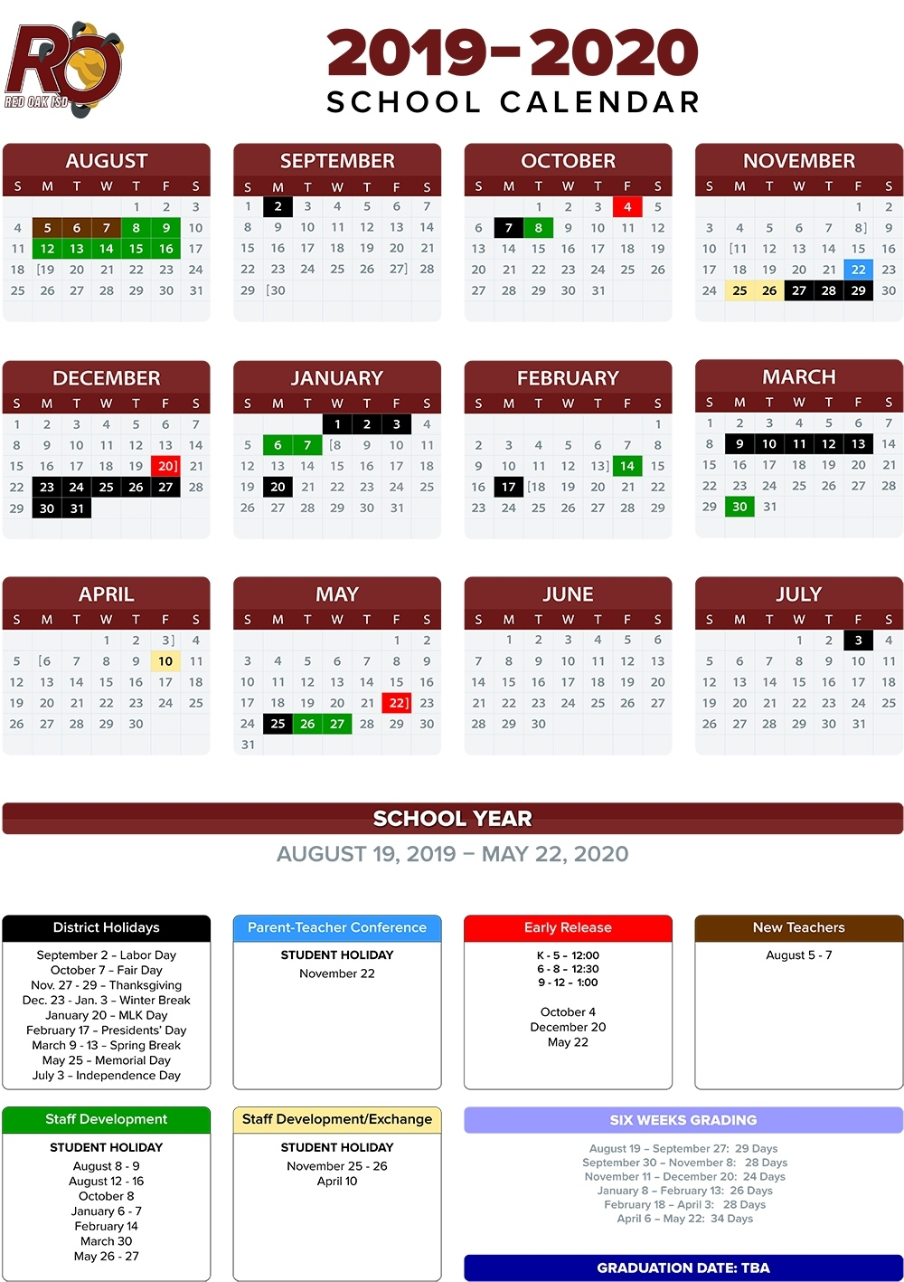Annual School Calendar / 2019-20 Annual Calendars Anderson 2 School Calendar