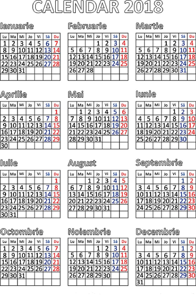 Cu Calendar 2020 Remarkable Calendar 2020 Cu Zile Libere • Printable Blank Calendar