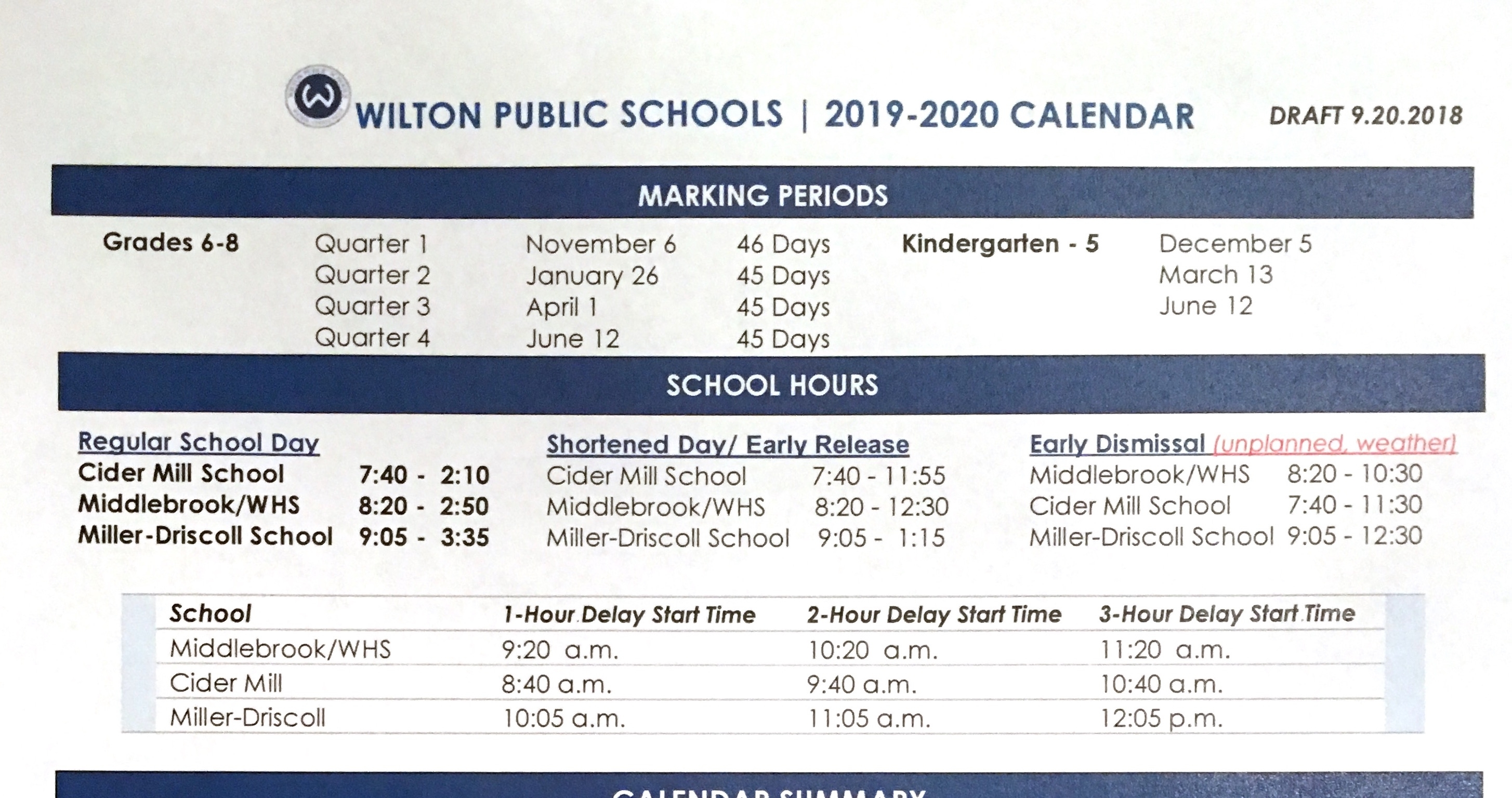 Bd. Of Education Proposes Before-Labor Day Start For 2019-2020 Impressive 2020 Calendar With Numbered Days