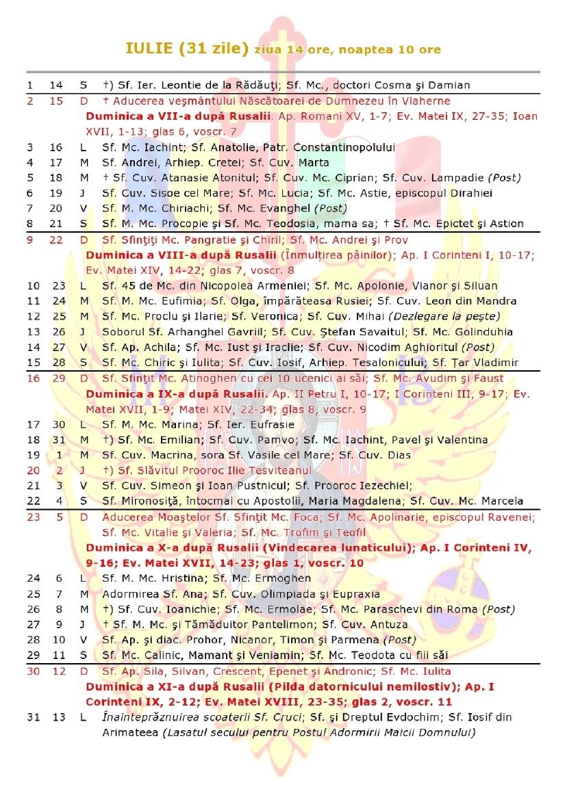 Beautiful 47 Design Calendar Ortodox Octombrie 2019 | Rakionleague Remarkable Calendar 2020 Cu Zile Libere