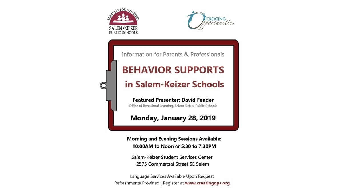 Behavior Supports In Salem-Keizer | Salem-Keizer Public Schools School Calendar Salem Keizer