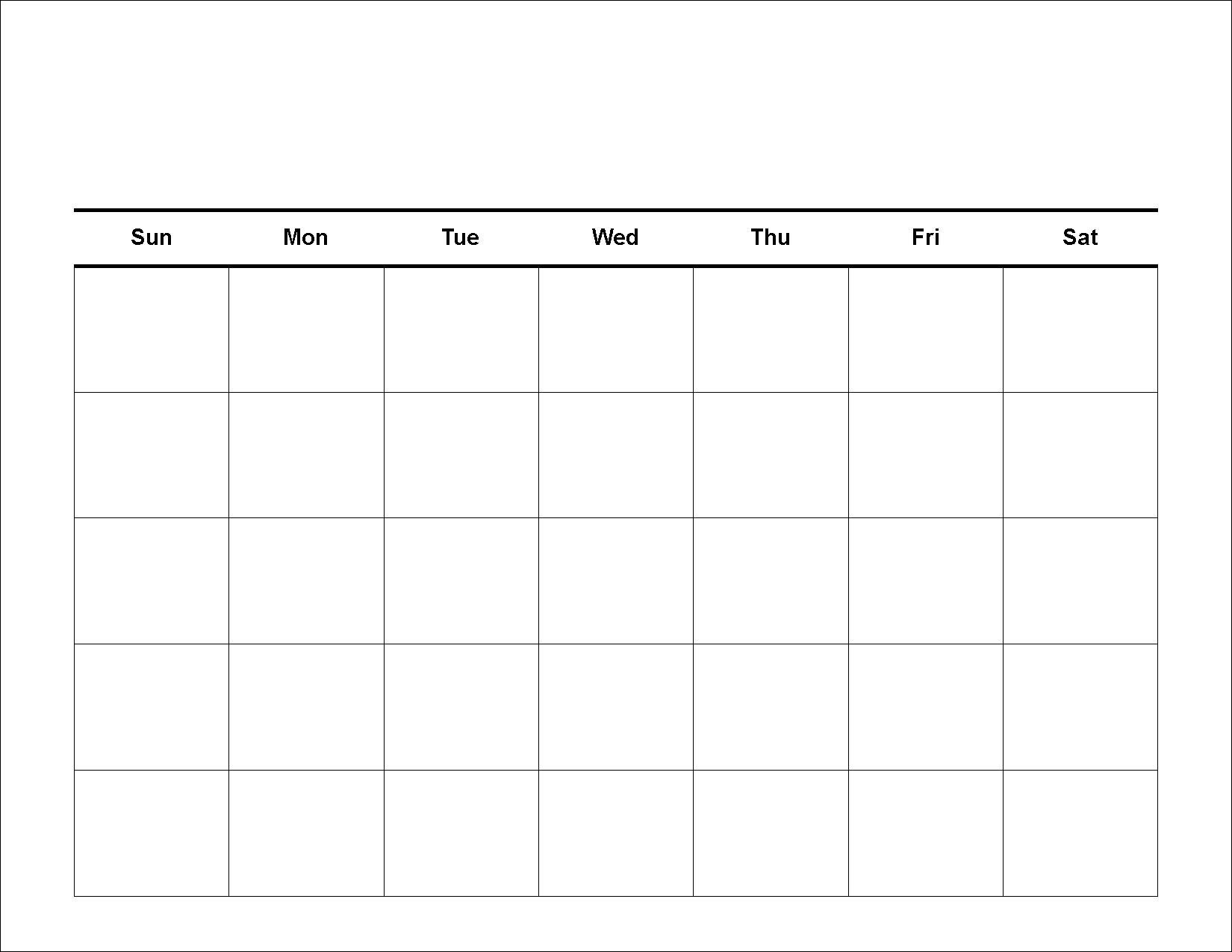 Blank Calendar Template Printable At Fill In Calendar Template Calendar Template To Fill In