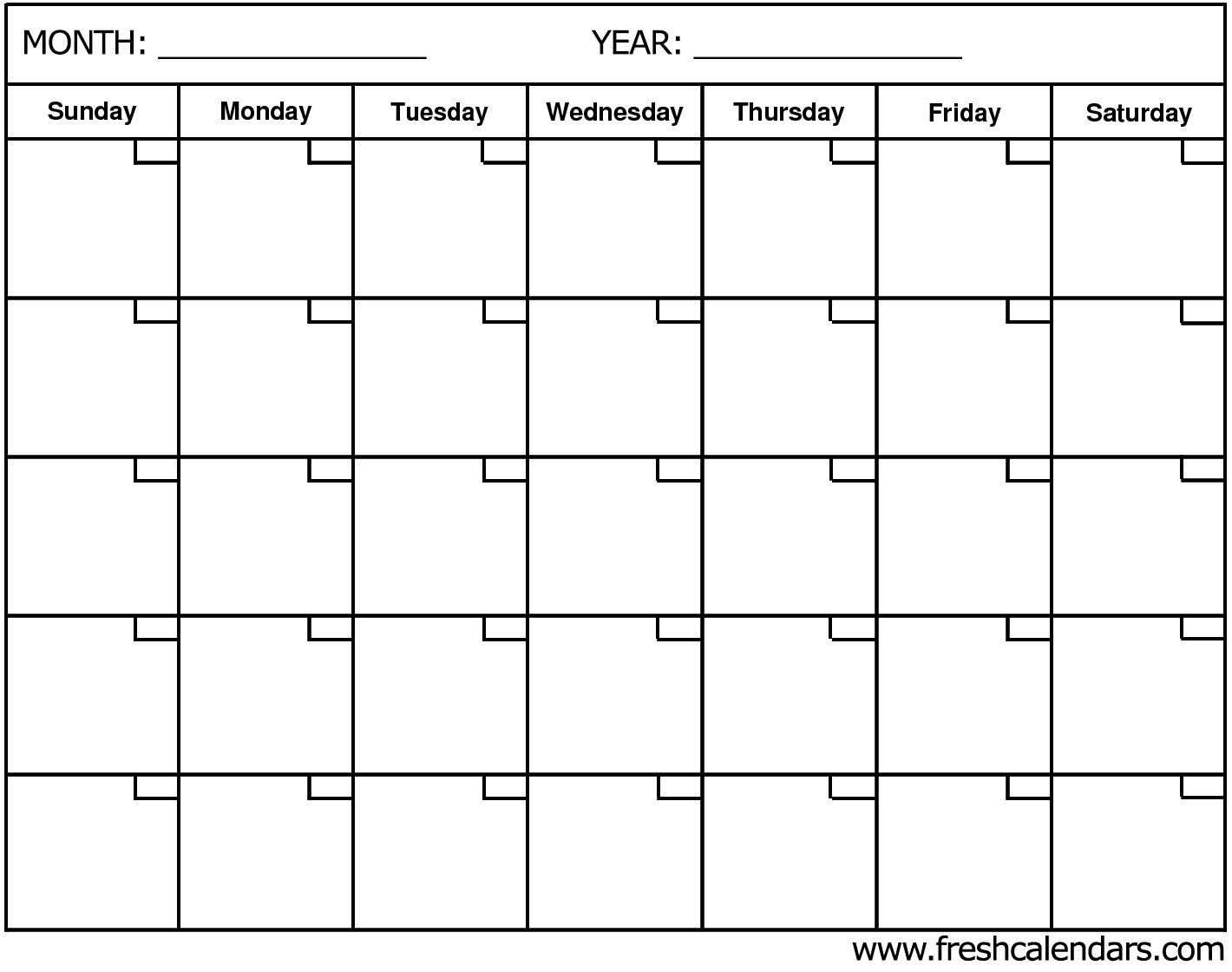 Blank Calendar: Wonderfully Printable 2019 Templates Exceptional Blank Calendar By Month