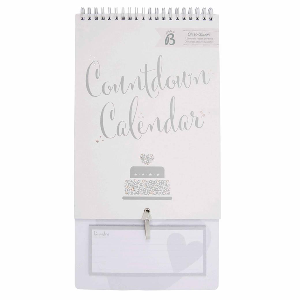 Bride 2 B Wedding Countdown Planner - Calendar Club Uk Wedding Countdown Calendar Uk