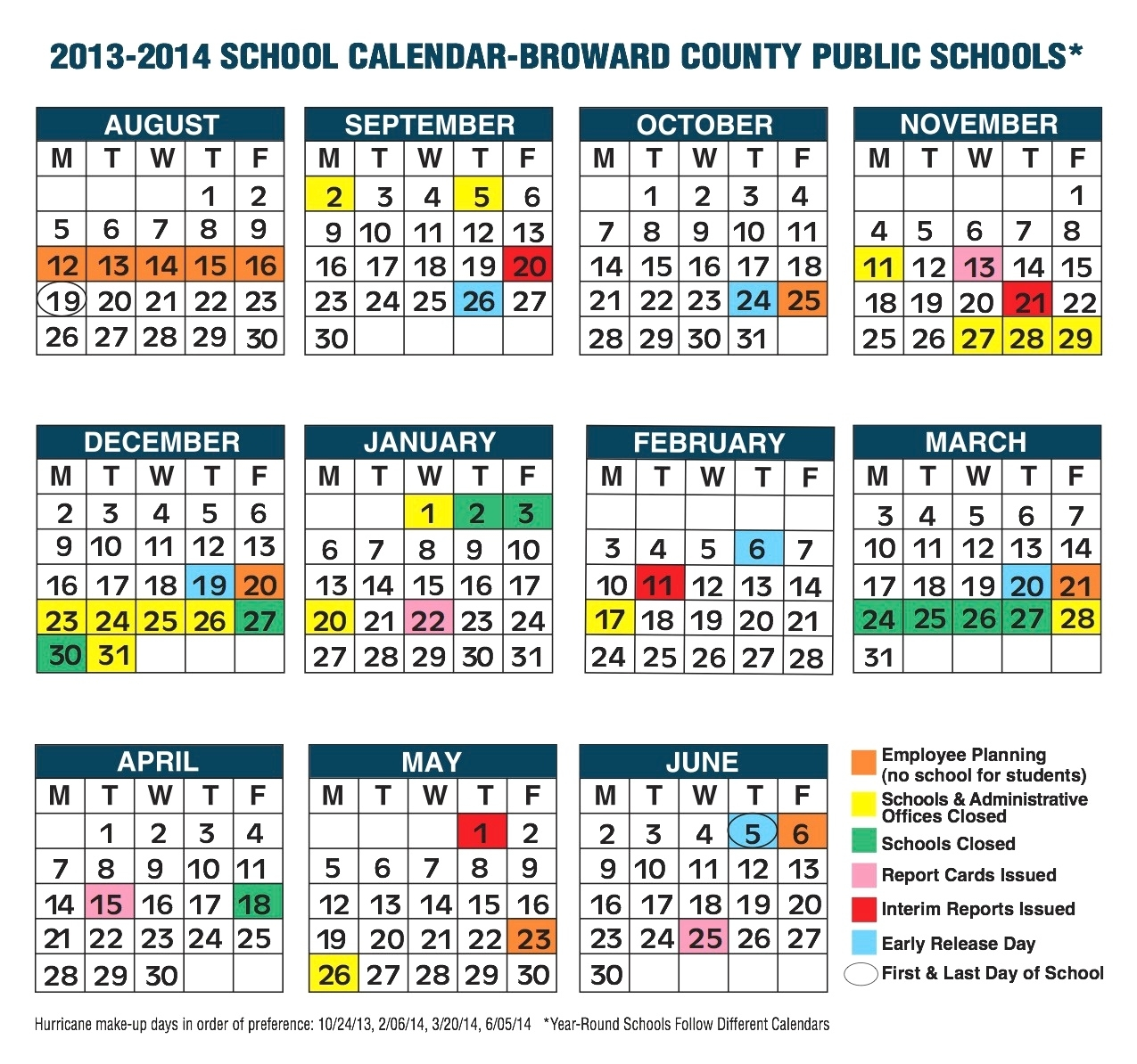 Broward Public School Calendar Broward County School Calendar School Calendar In Broward County