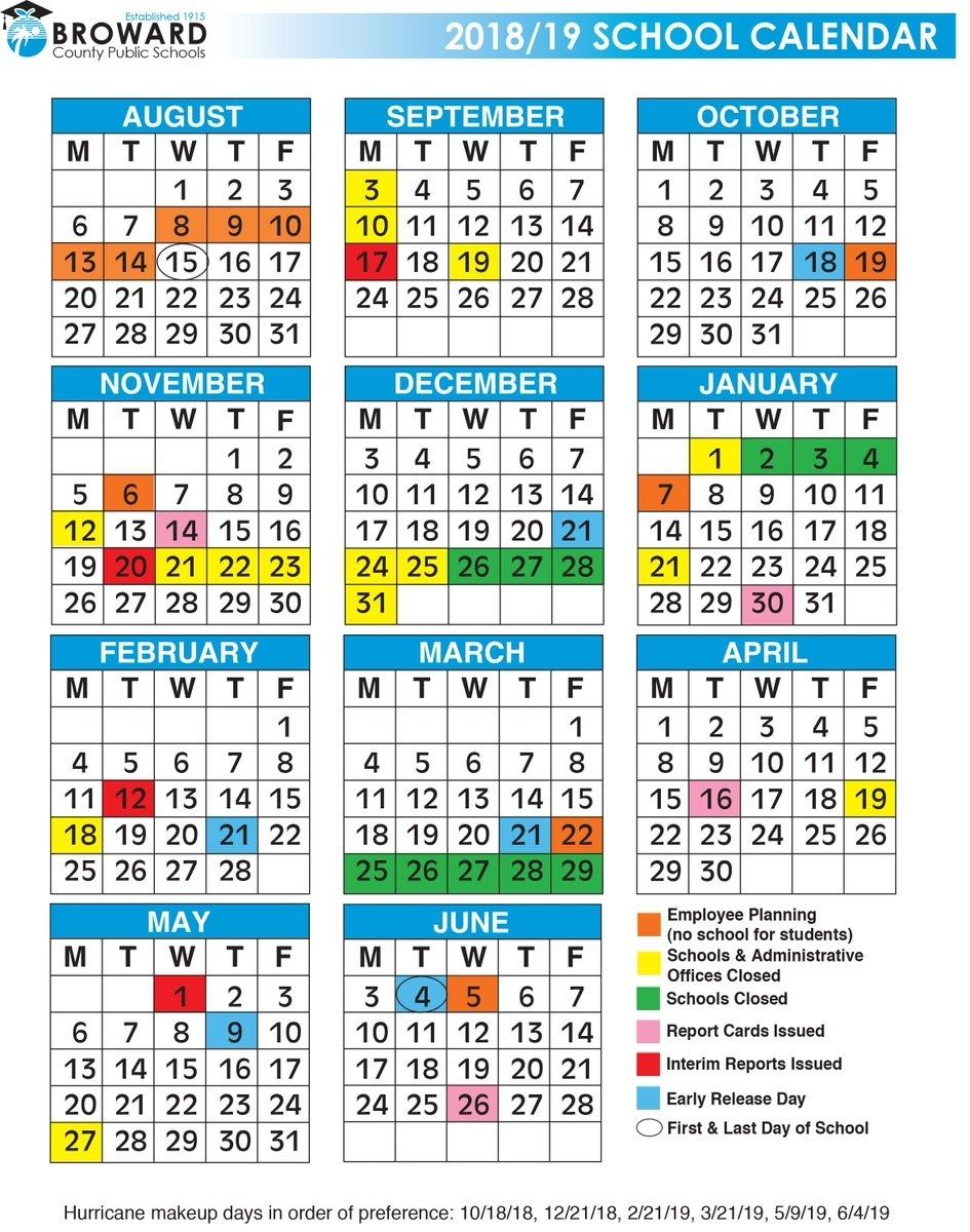 """Broward Schools On Twitter: """"the First Day Of School Is August 15 Exceptional School Calendar In Broward County"""