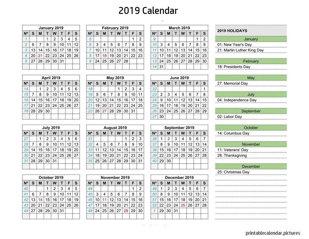 Calendar 2019 Holidays | 2019 Calendar Holidays | Calendar 2019 3 Month Calendar With Holidays