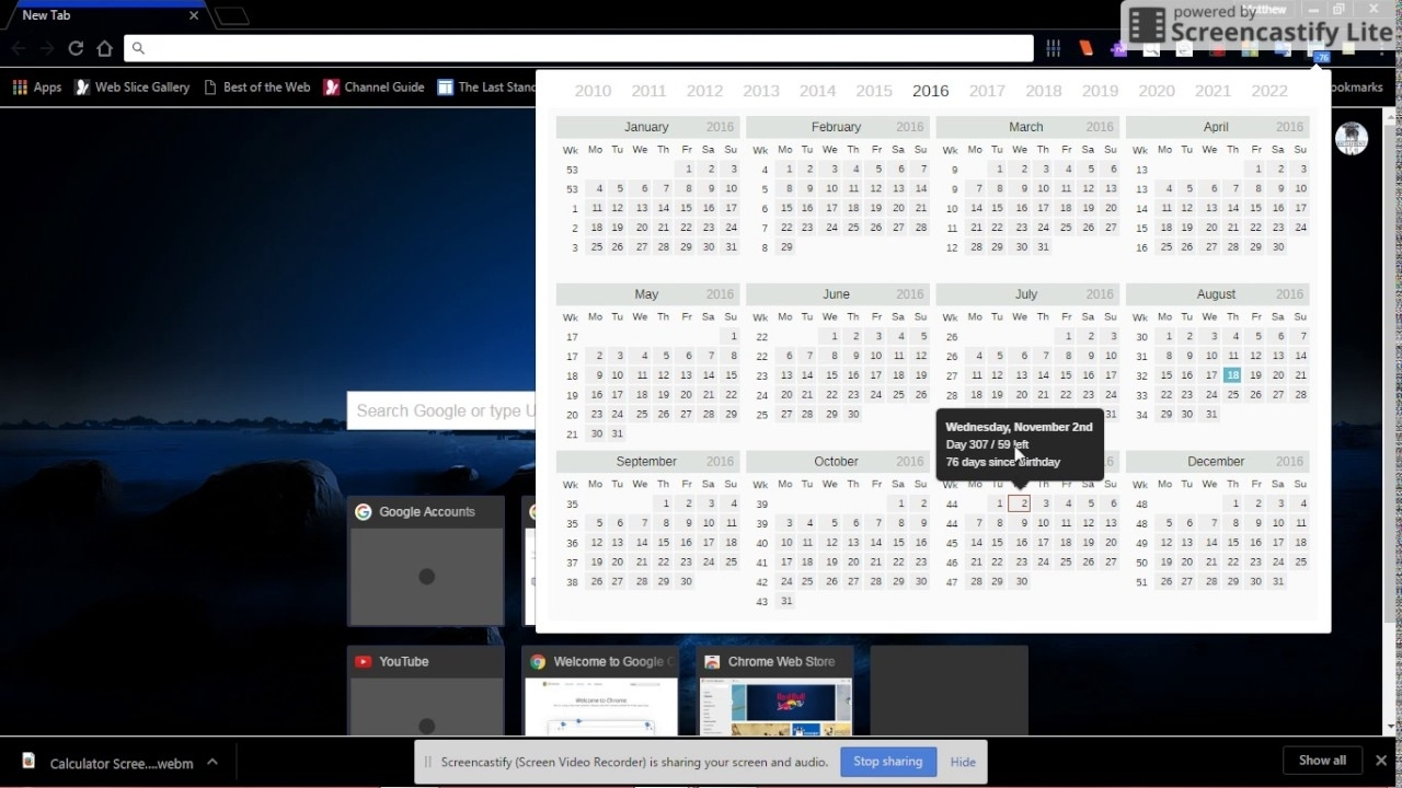 Calendar And Countdown Extension For Chrome - Youtube Calendar And Countdown Chrome