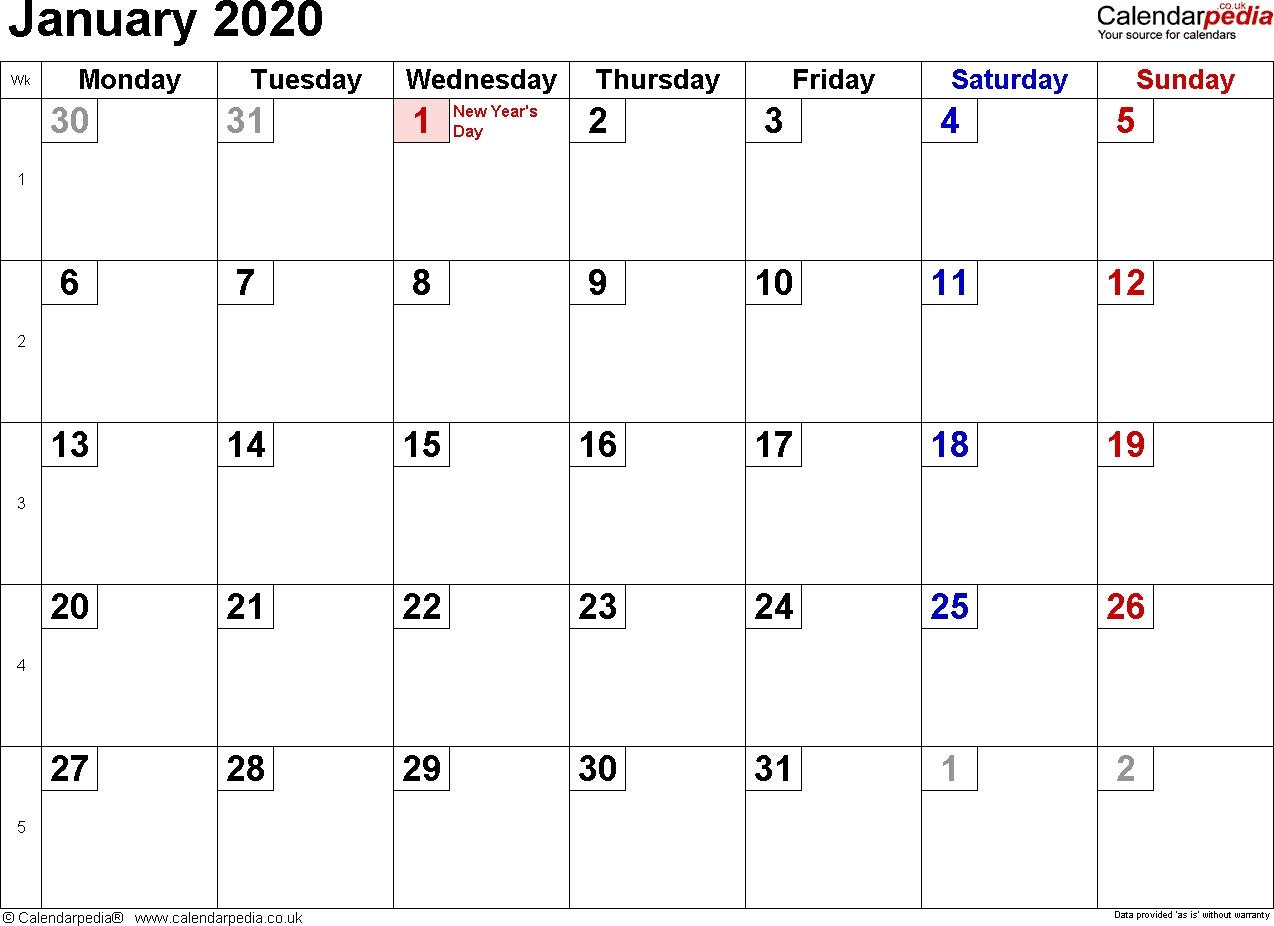 Calendar January 2020 Uk, Bank Holidays, Excel/pdf/word Templates Impressive 2020 Calendar Uk With Week Numbers