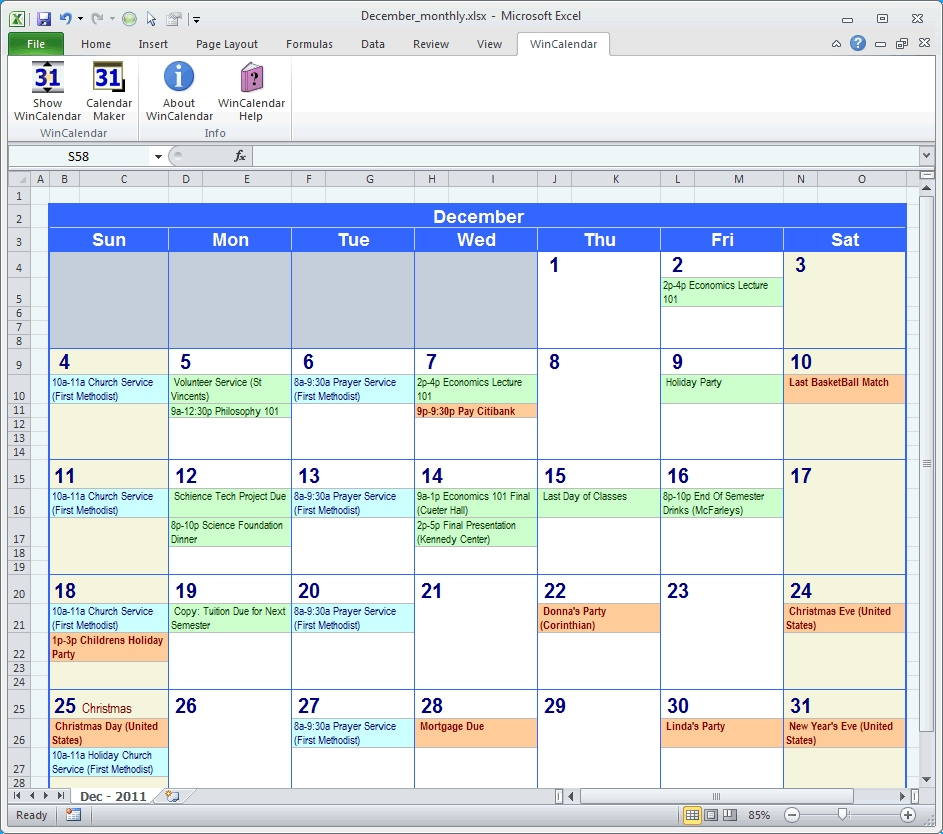 Calendar Maker & Calendar Creator For Word And Excel Calendar Template Schedule Monthly