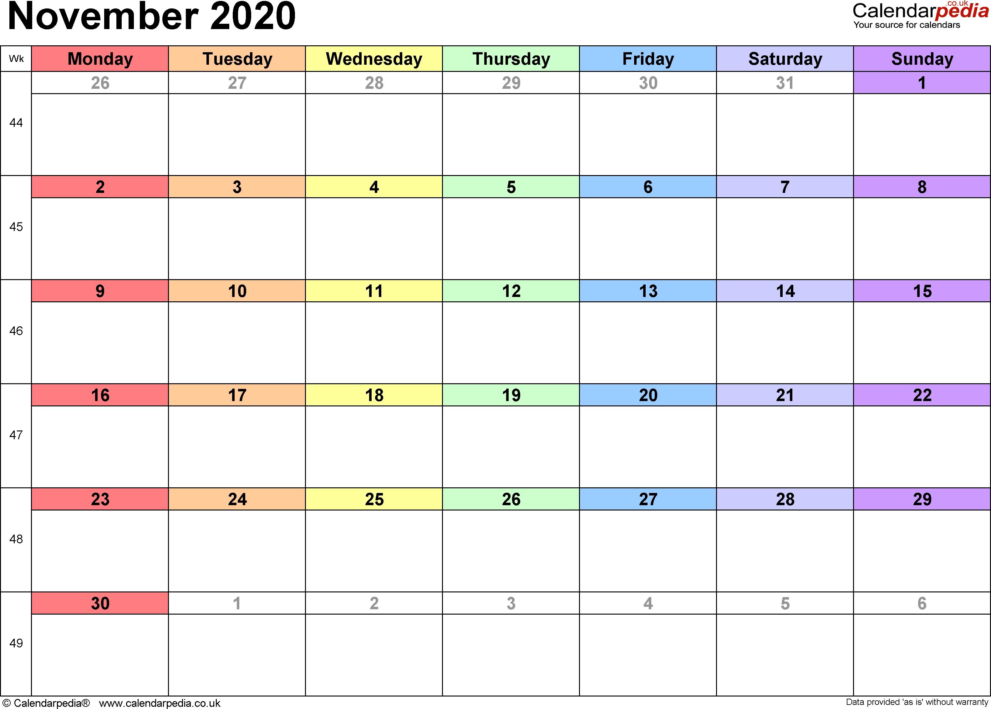 Calendar November 2020 Uk, Bank Holidays, Excel/pdf/word Templates November 3 2020 Calendar