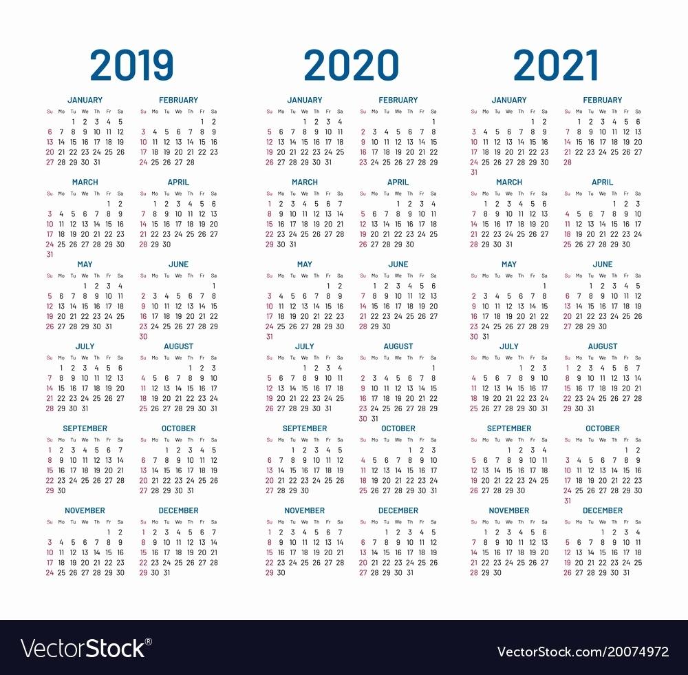 Calendar Printable 2019 2020 Year 2019 2020 2021 Calendar Royalty Remarkable 2020 Calendar Free Download
