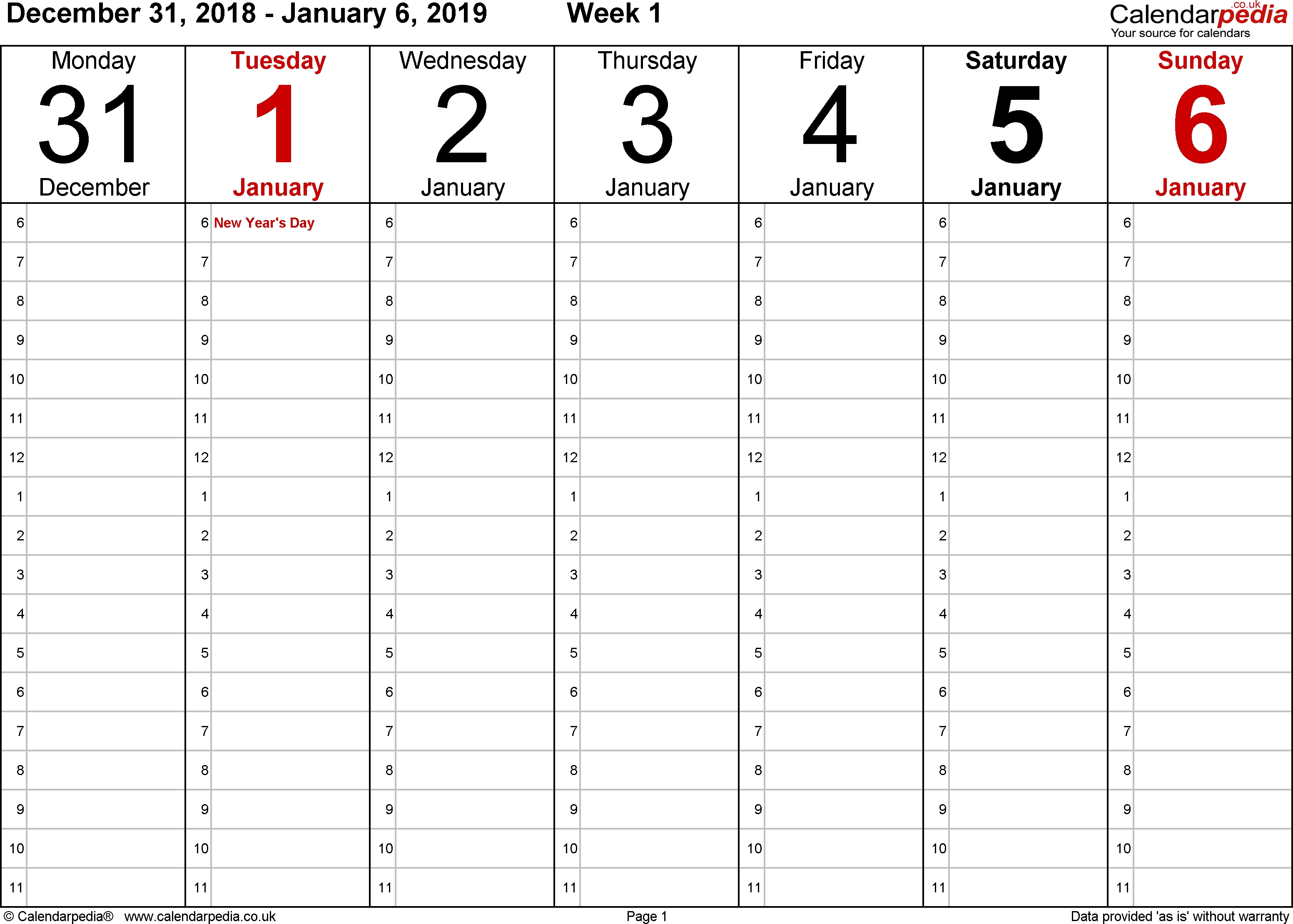 Calendar Template Word Weekly Appointment | Smorad 6 Week Calendar Template Word