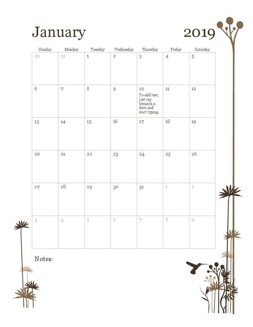 Calendars - Office 6 Week Calendar Template Word