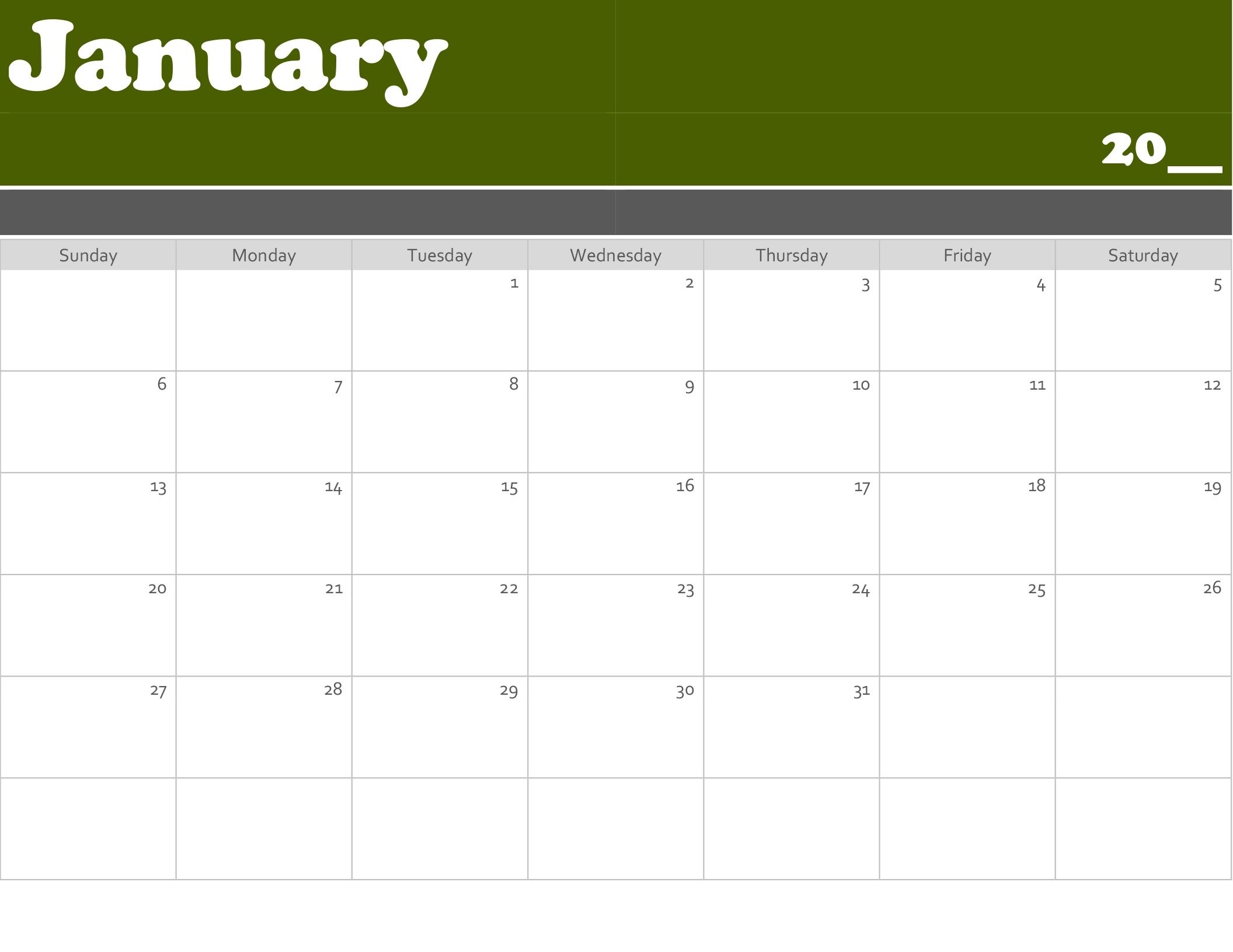 Calendars - Office Incredible Print Blank Calendar Office 365