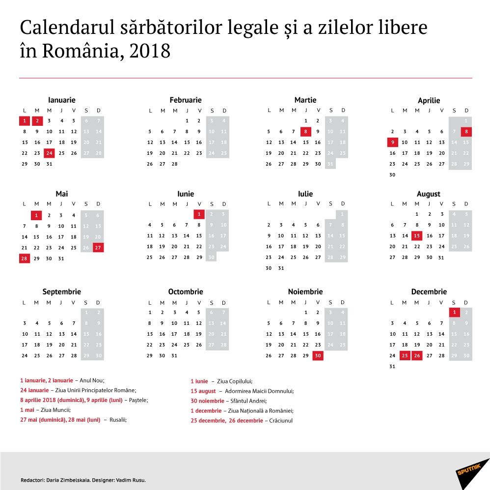Calendarul Zilelor Libere În 2018, Decretate Prin Lege În România Calendar 2020 Cu Zile Libere