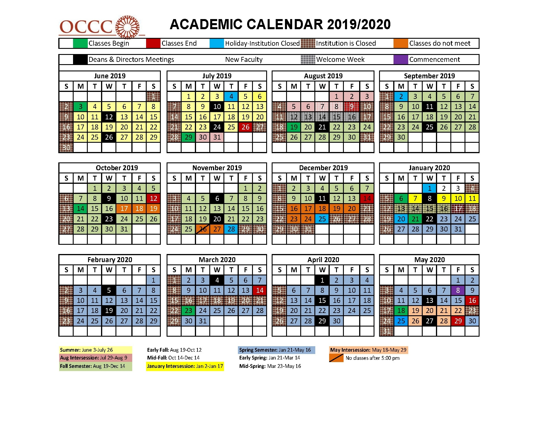 Community Colleges Oklahoma   Classes, Programs, Associate Degrees Tri C School Calendar