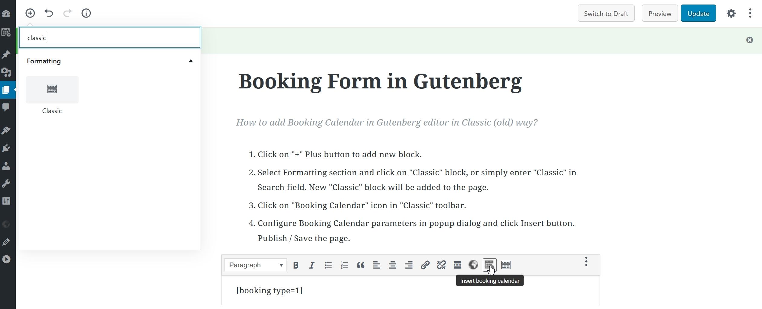 Configuration Of Booking Calendar | Booking Calendar - WordPress Plugin Month Calendar Get Selected Date C