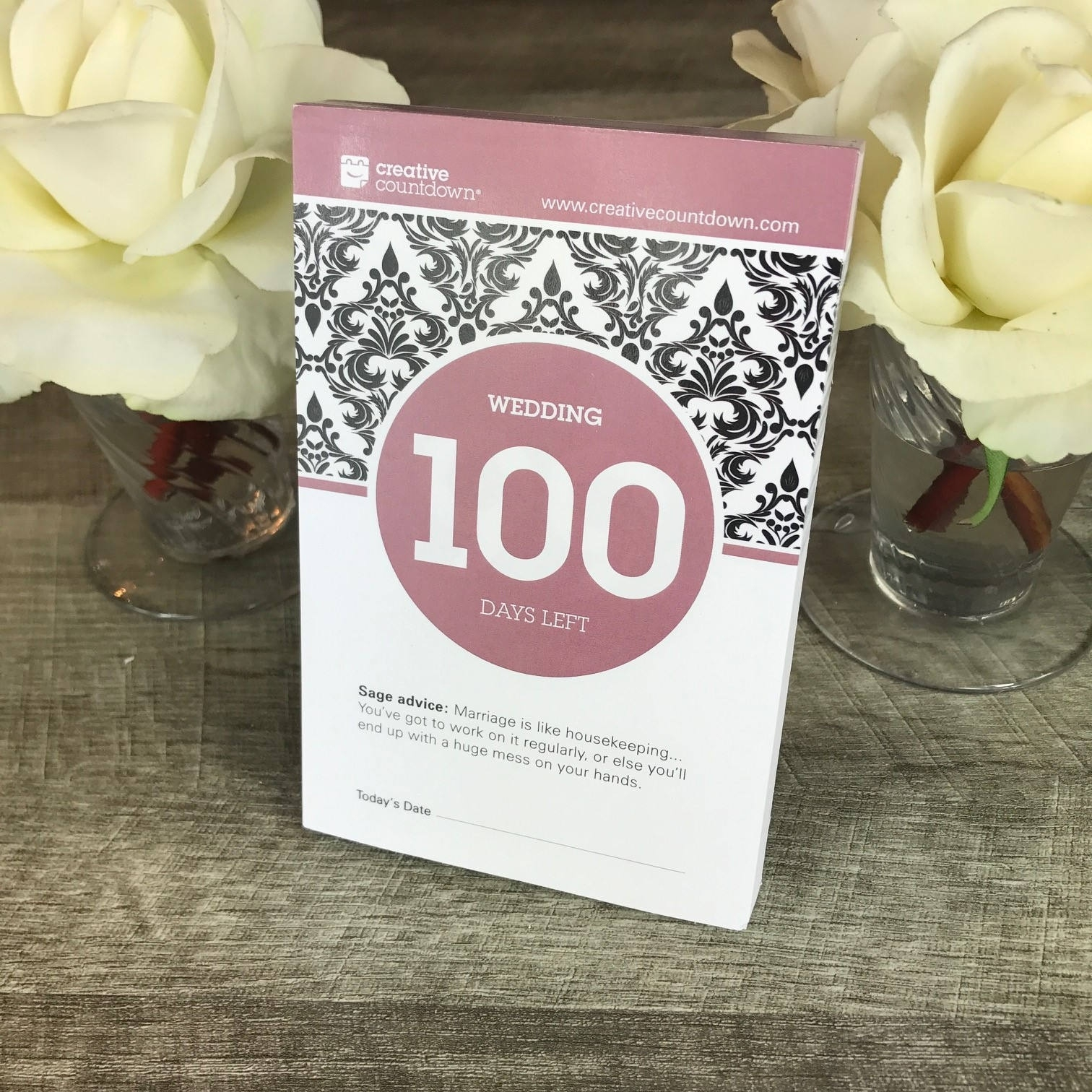 Countdown To Wedding 100-Day Tear-Off Countdown Calendar | Etsy Tear Off Countdown Calendar Uk