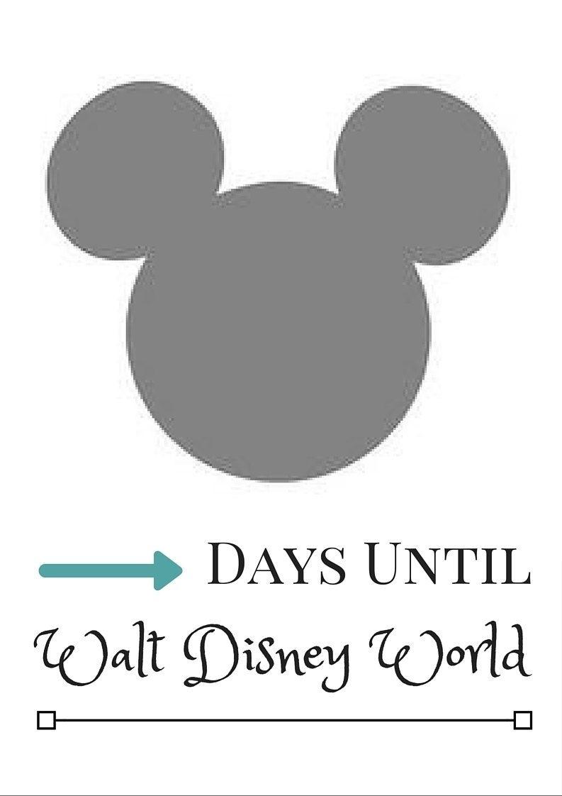 Disney Countdown Calendar - Printable Mickey Mouse Calendar Disney Countdown Calendar App