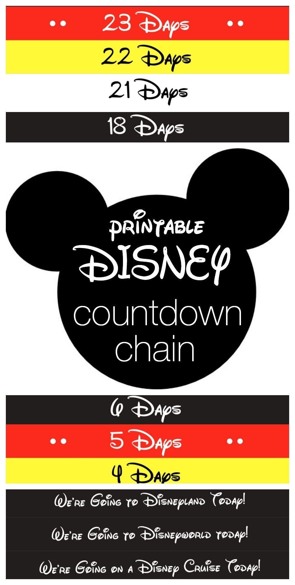 Disney Countdown Chain | Best Of Pinterest | Disney Countdown Disney Countdown Calendar App