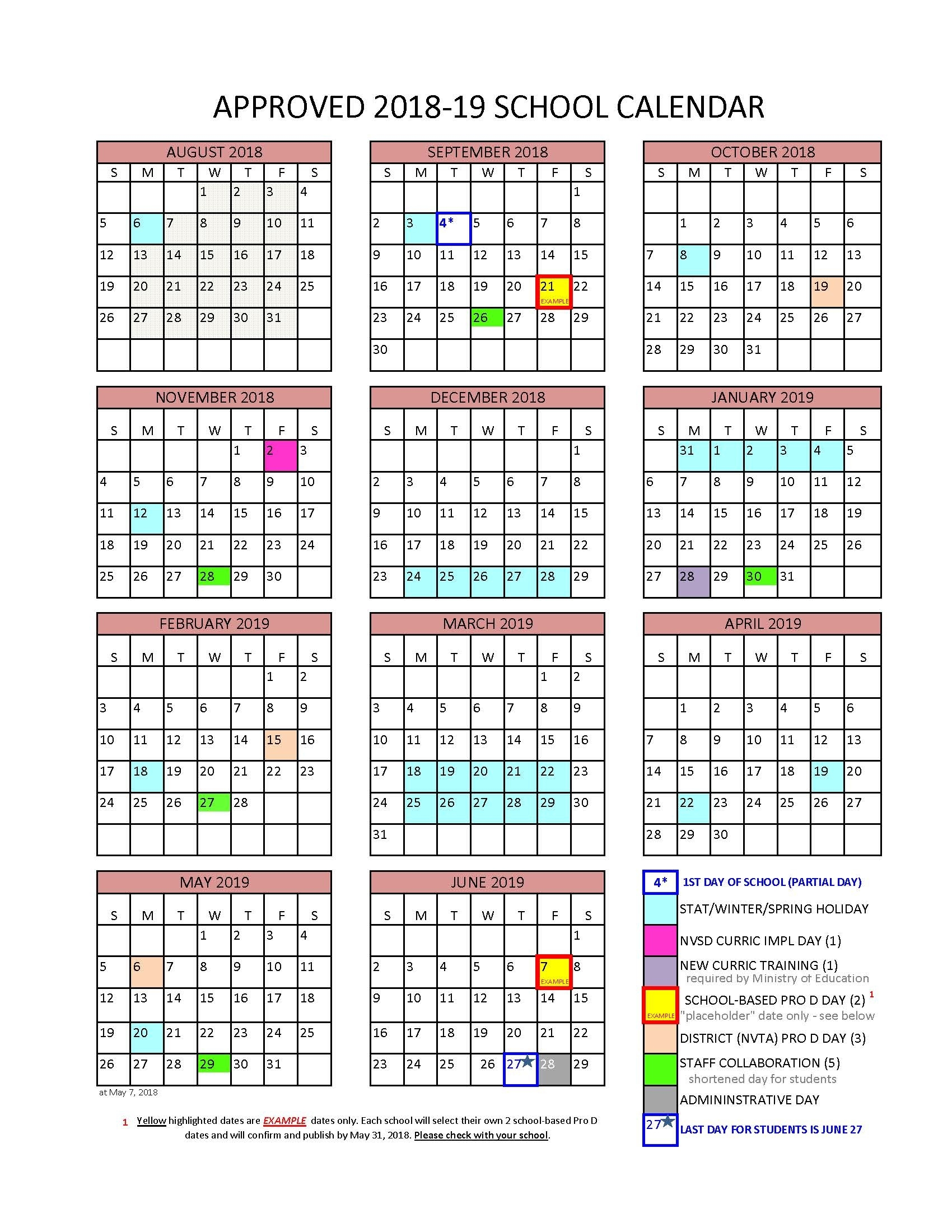District Calendar - North Vancouver School District Easter 2020 Calendar Date